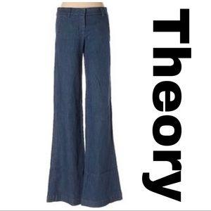 Theory wide leg trouser style Bricker jean size 4